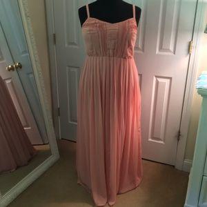 01f0af556f9 torrid Dresses - Torrid Blush Pleat   Eyelet Chiffon Maxi Dress 1X